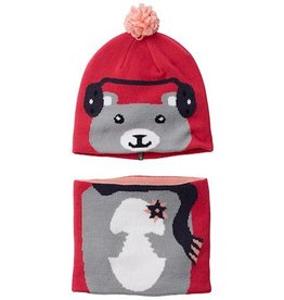 Columbia Snow More™ Beanie and Gaiter Set Infant Cactus Pink Bear O/S