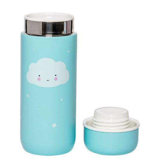 A Little Lovely Company Insulated Stainless Steel Drink Bottle Cloud