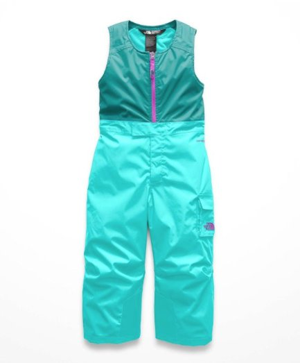 The North Face Toddler Insulated Bibs Mint Blue
