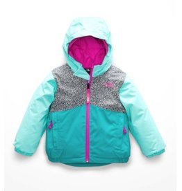 The North Face Toddler Snowqest Insulated Jacket TNF White Mini Dot Print