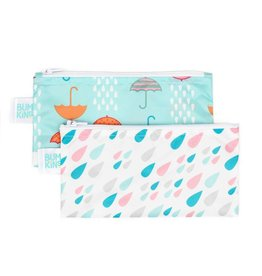 Bumkins Reusable Snack Bag 2 Pack Rain & Umbrella