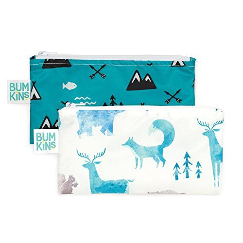 Bumkins Reusable Snack Bag 2 Pack Outdoors