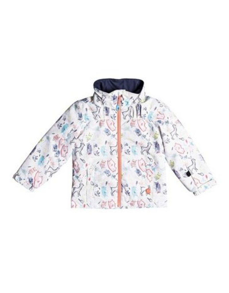 ROXY Roxy Mini Jetty Jacket Bright White / Animal Party