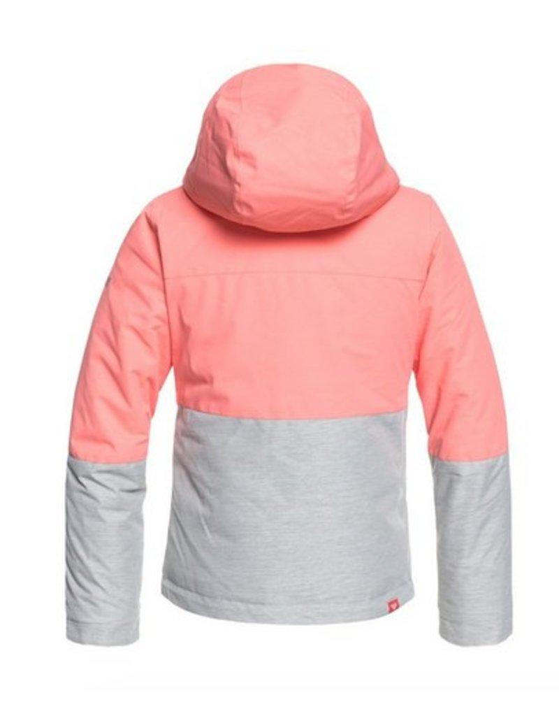b1bd4268b Roxy Jetty Girls Snow Jacket Pink