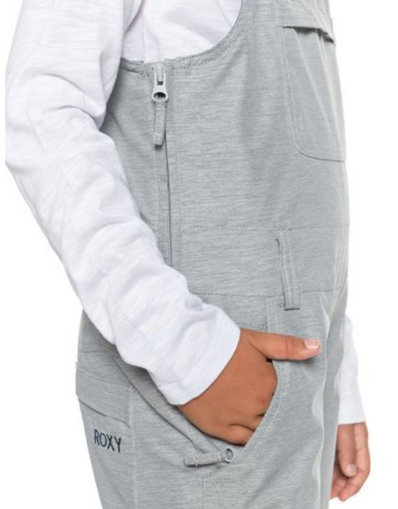 ROXY Roxy Non Stop Girls Bib Snow Pant Grey