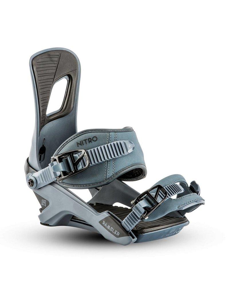 Nitro Rambler Mens Snowboard Binding - Blue Steel - Size Medium (7-10.5US)