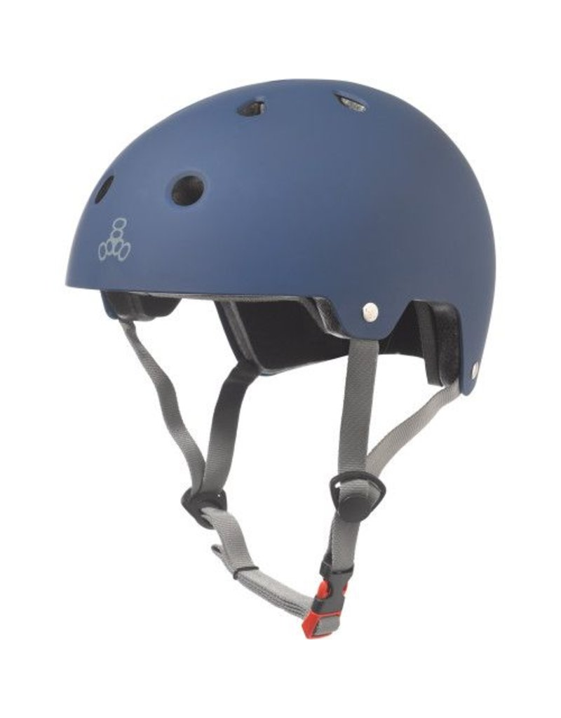 TRIPLE 8 Triple 8 Certified Blue Rubber Skateboard and Bike Helmet
