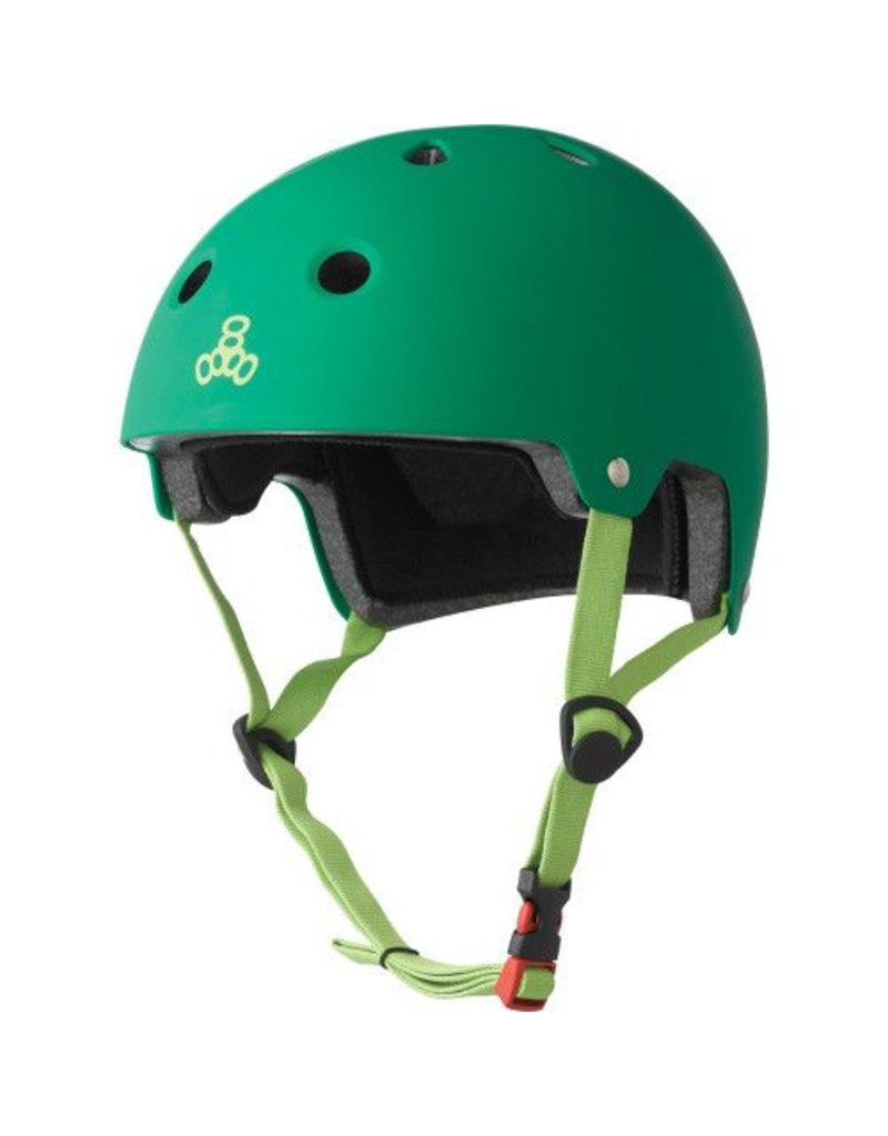 TRIPLE 8 Triple 8 Certified Kelly Rubber Skateboard and Bike Helmet