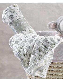 Lil Llama Couverture Mousseline Coton Agneau