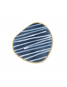 Fringe Studio Indigo Stripes Tray