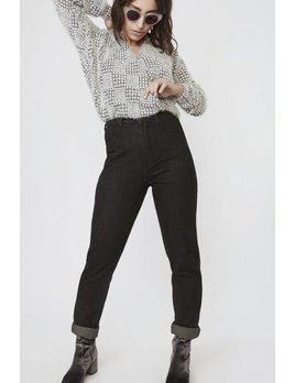 Lovan M Houndstooth Peri Sweater