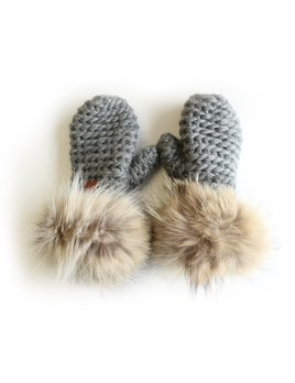 Gibou Coyote Fur Mittens