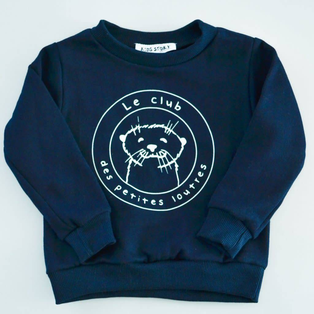 Dailystory Navy Otters Club Sweater