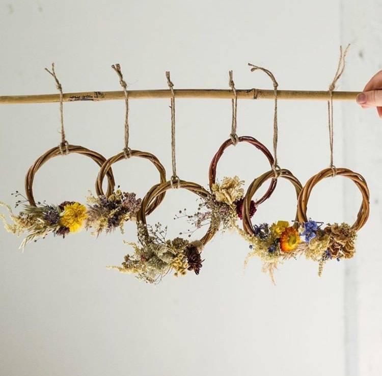 Laurie Anne Fleurs Mini Couronne Fleurs Séchées
