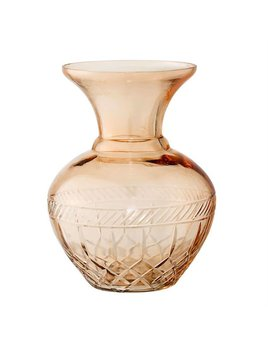 Bloomingville Brown Etched Glass Vase