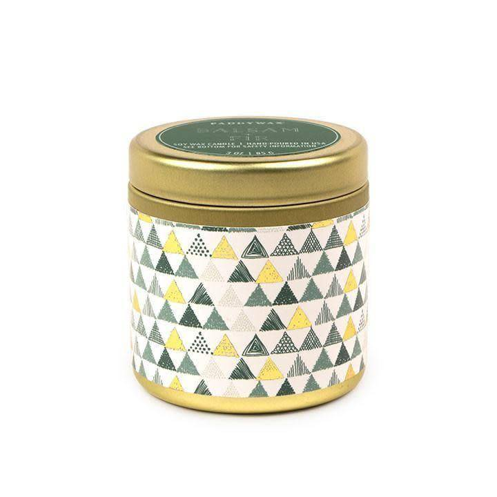Balsam and Fir Metal Candle