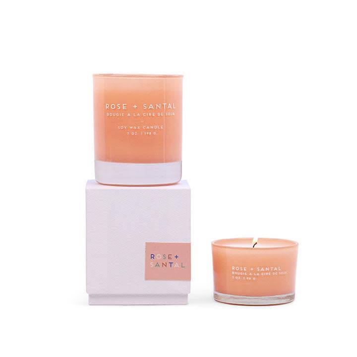 Rose and Santal Glass Candle