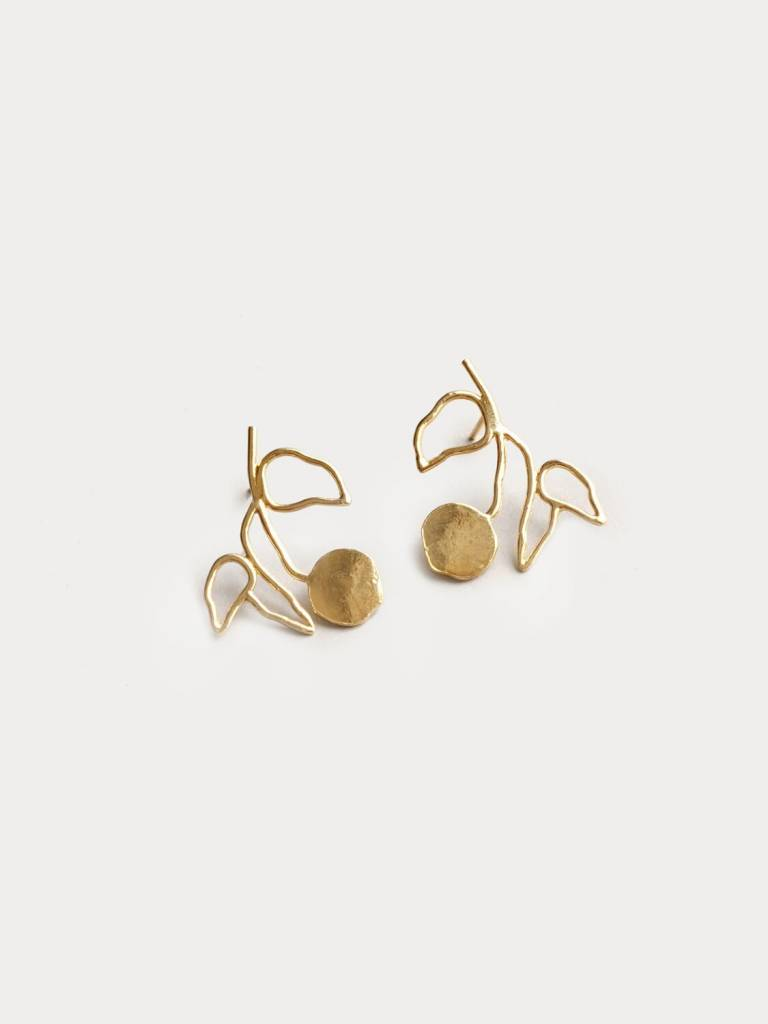 Wolf Circus Gold Plant Earrings