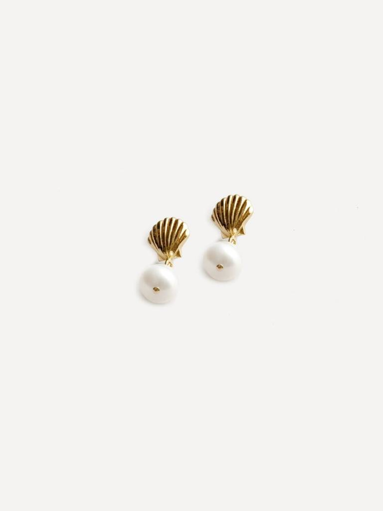 Wolf Circus Boucles D'Oreilles Coquillage et Perle