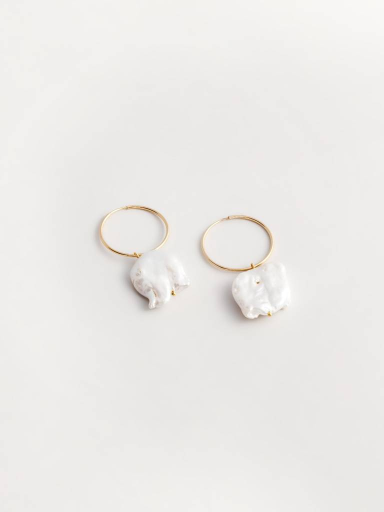 Wolf Circus Freshwater Pearl Hoops