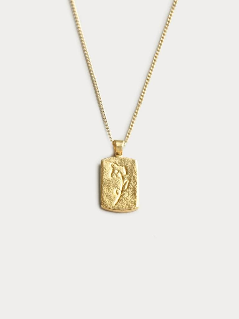 Wolf Circus Collier Pendentif Floral Or