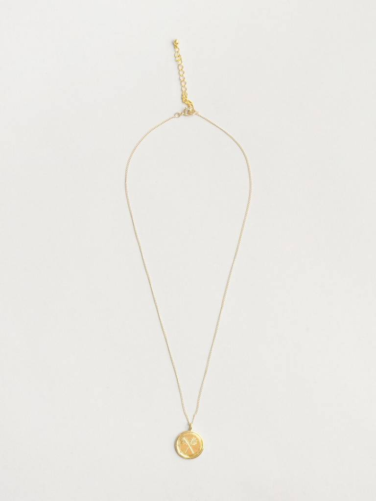 Wolf Circus Palms Necklace in Gold