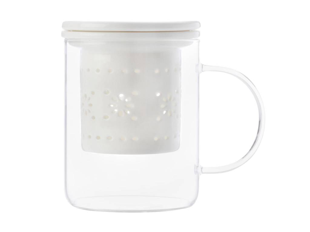 Maxwell & Williams Tasse et Infuseur Blanc