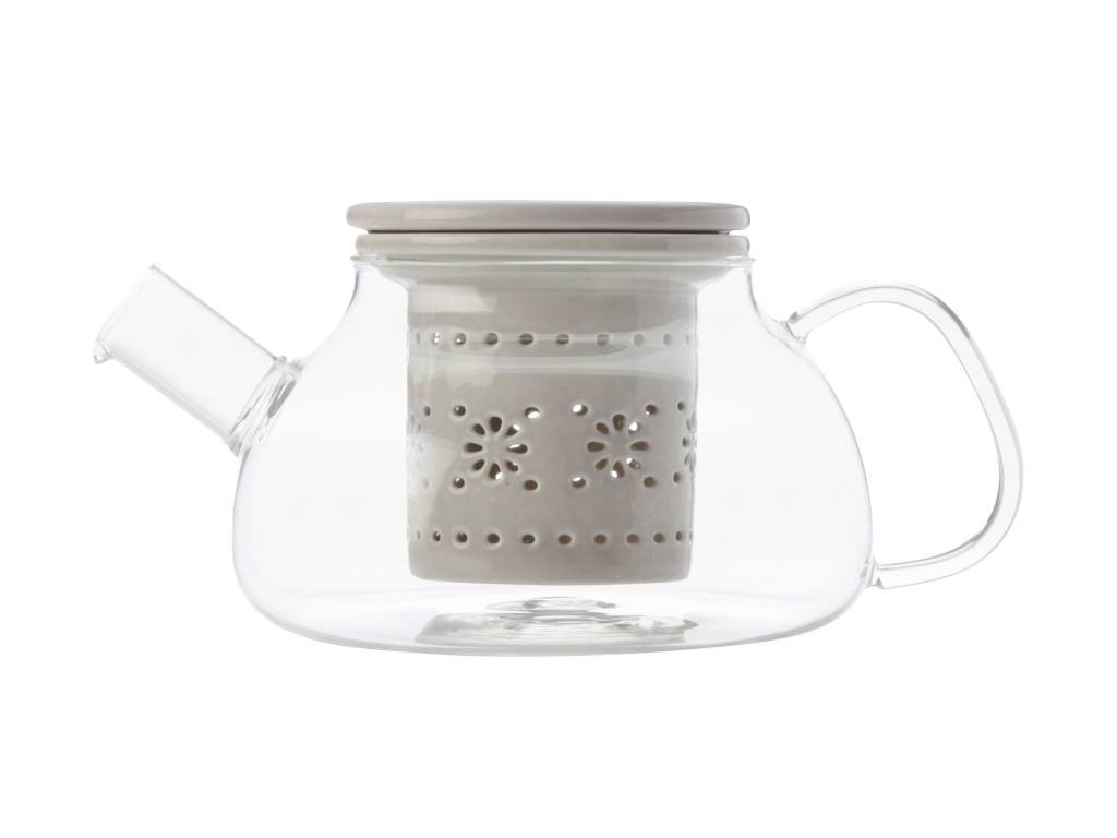Maxwell & Williams Teapot and Grey Infuser