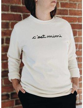 Mimi Hammer C'est Mimi Sweatshirt Blanc