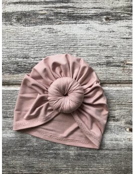 Mini Bretzel Turban Premium Blush - Choix Couleurs