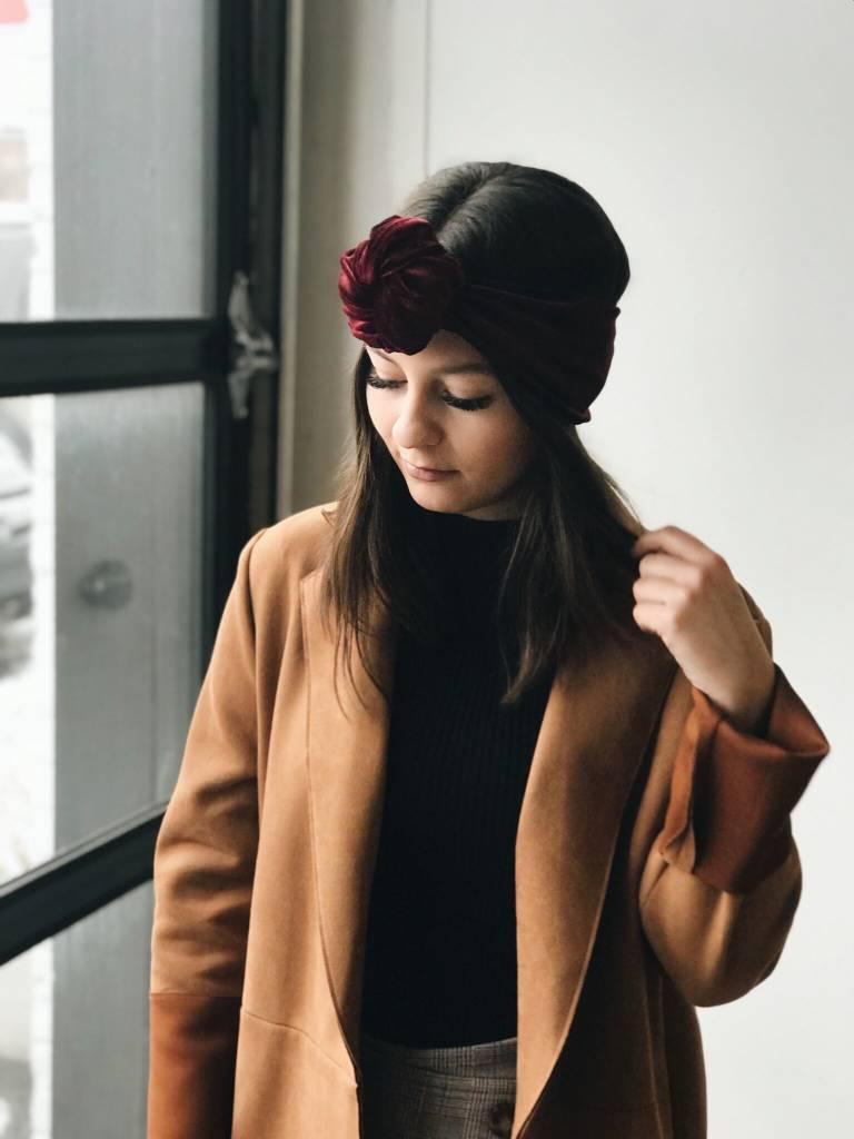 Gibou Knotted Velvet Headband - Color Choices