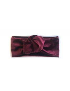 Gibou Knotted Velvet Headband - Color Choices