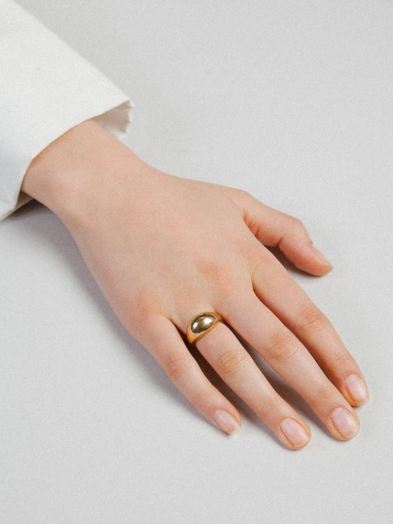 Wolf Circus Magnes Ring in Gold