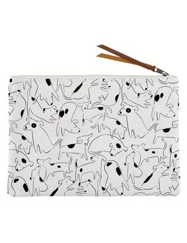 Fringe Studio Nosey Dog Canvas Pouch