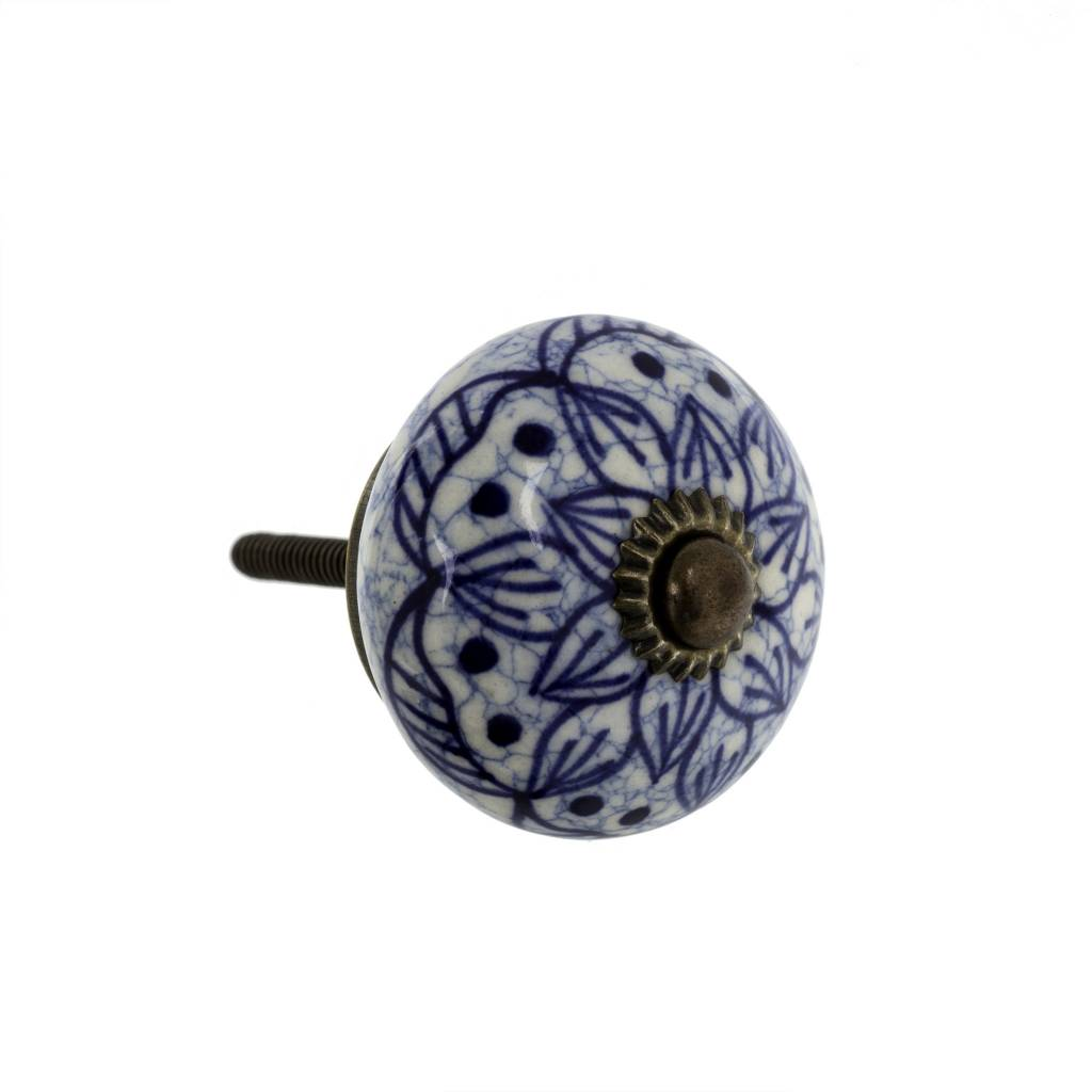 Indaba Blue Flora Knob