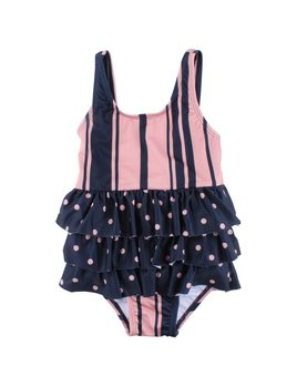 Small Rags Stripes Polka Dot Bathing Suit
