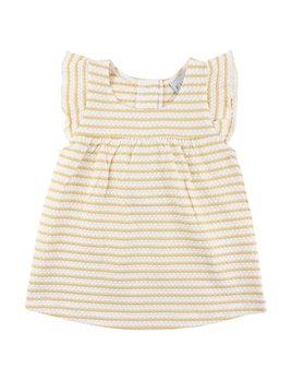 FIXONI Yellow Stripes Dress