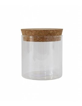 Bloomingville Glass and Cork Jar