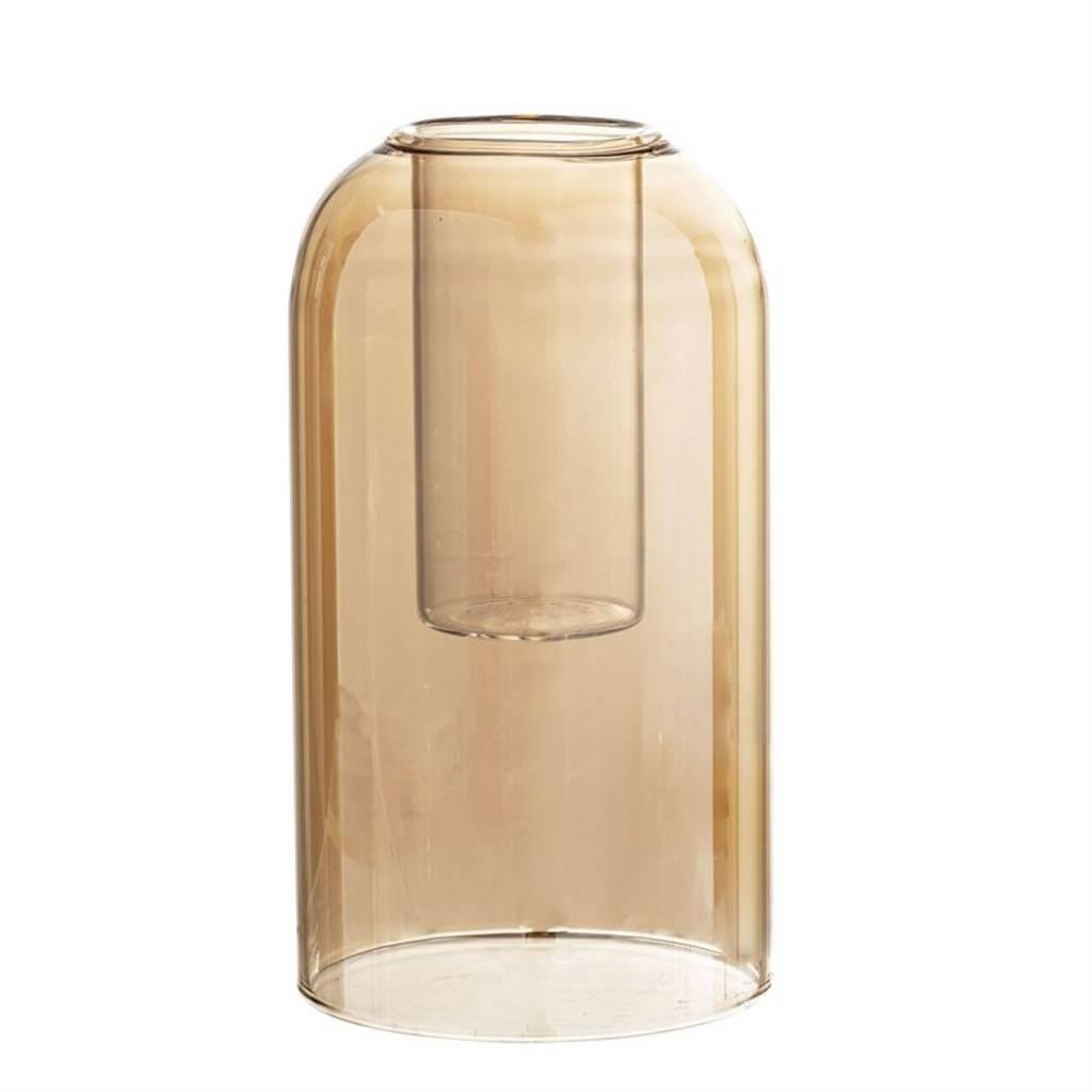 Bloomingville Vase en Verre Ambre