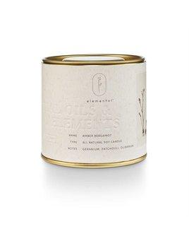 Amber Bergamot Tin Candle