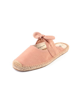 Soludos Pink Knot Mules Espadrille