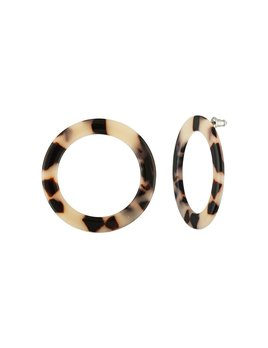 Machete Mini Isla Blonde Tortoise Hoops