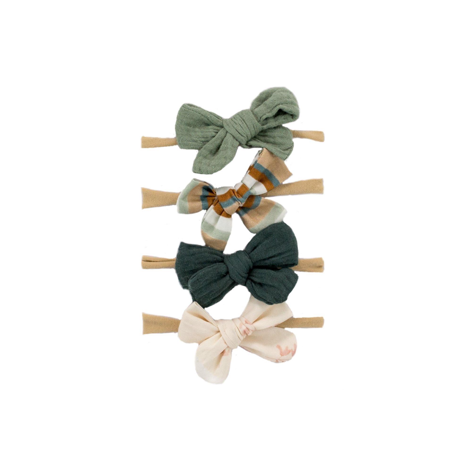 Bajoue Retro Bow Headbands Set
