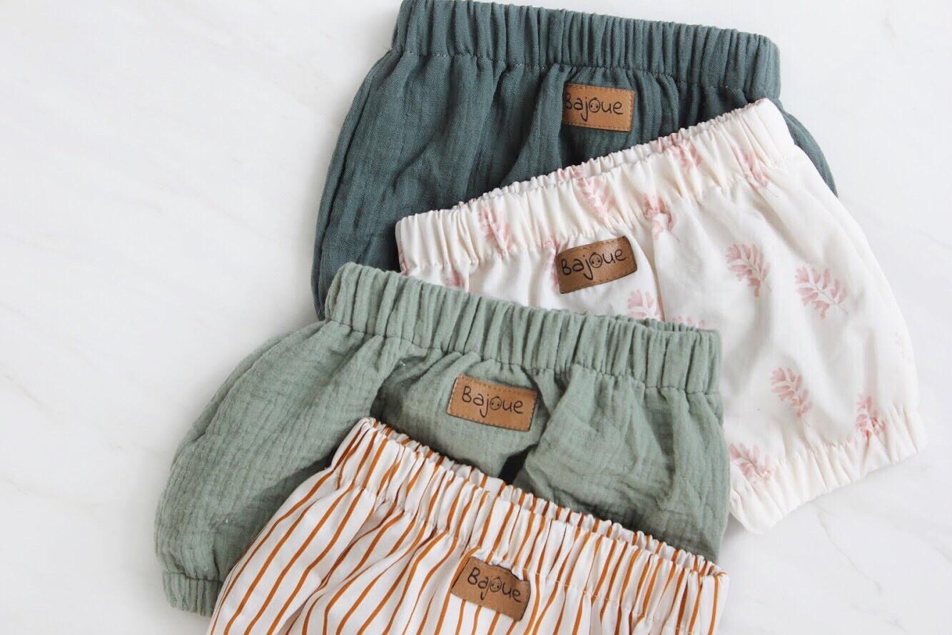 Bajoue Indigo Cotton Short