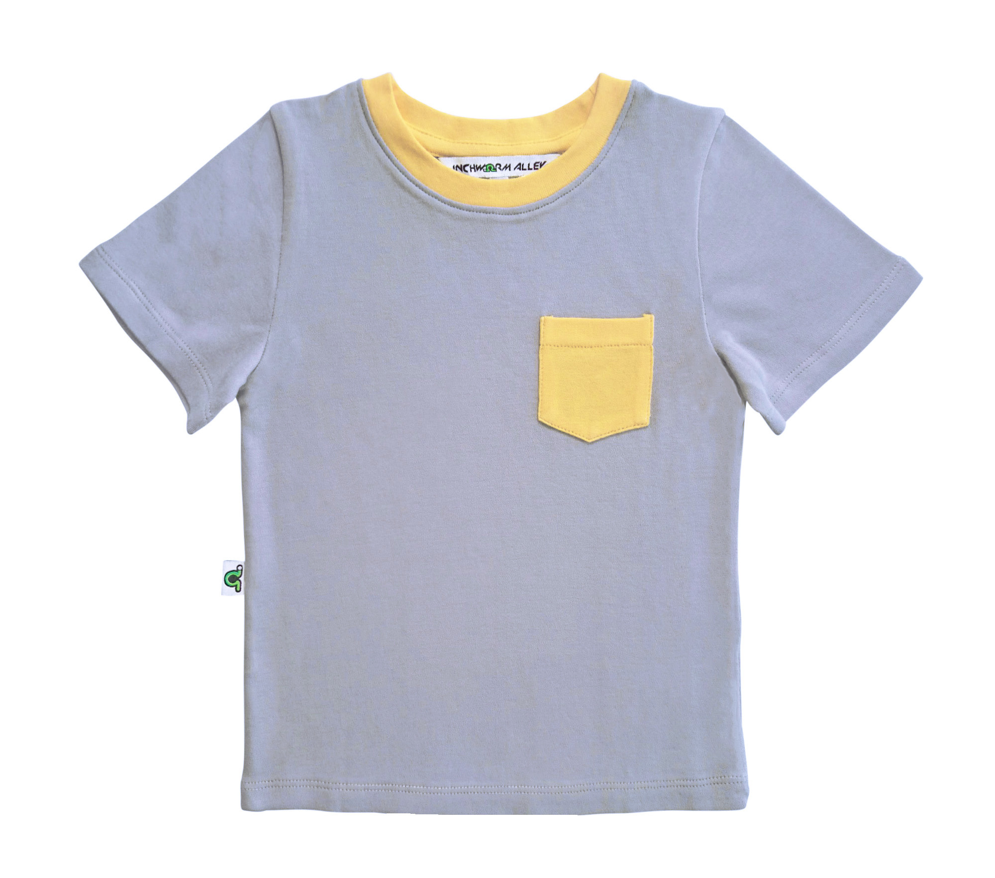 Inchworm Alley T-Shirt Gris Poche Jaune