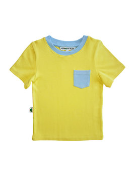 Inchworm Alley Yellow and Blue T-shirt