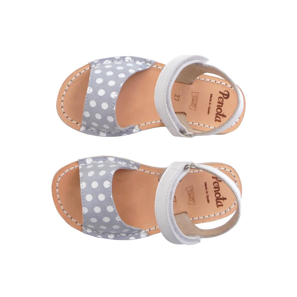 Pénota Shoes Dots Leather Sandals