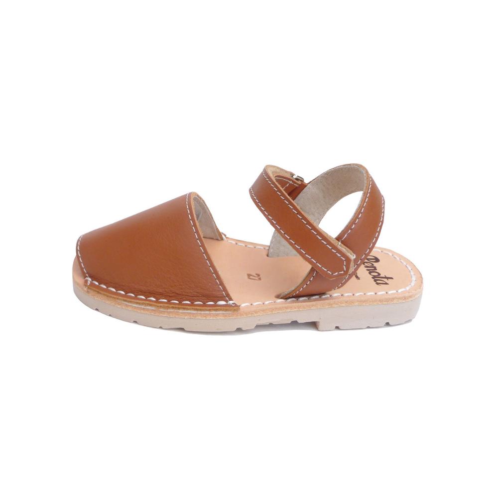 Pénota Shoes Chestnut Brown Leather Sandals