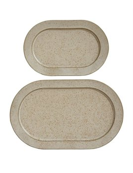 Bloomingville Beige Speckled Platter - 2 sizes