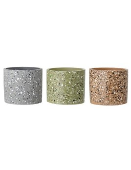 Bloomingville Pot Ciment Terrazzo - 3 Couleurs